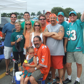 One Crazy Fan Tailgating